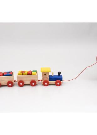 Деревянная игрушка паравозик Городок