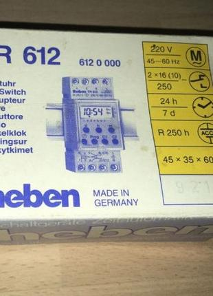 Theben TR 612 двухрелейный недельный таймер