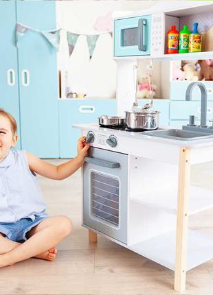 Деревянная кухня для детей EcoToys 7256A