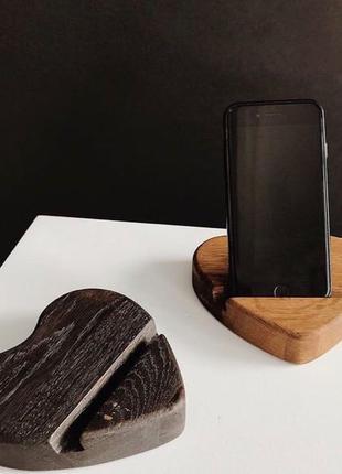 Подставка под телефон,Подставка из дерева,Держатель для телефона