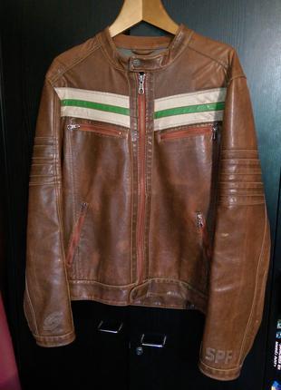 Мужская куртка Springfield (кожзам)