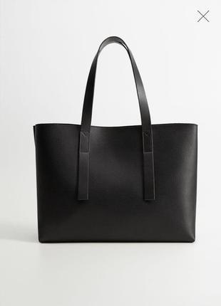 Крутая сумка шоппер mango