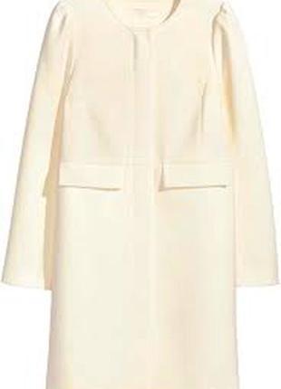 Пальто молочного цвета h&m