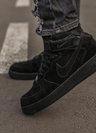 Мужские термо кроссовки nike air force black