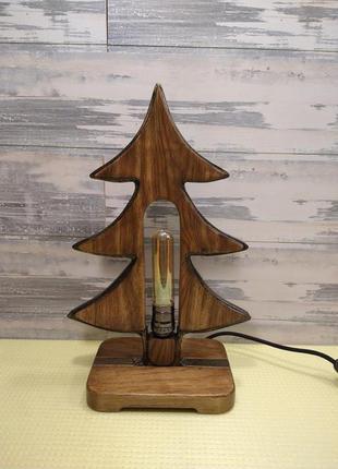 """Светильник новогодний """"Ёлочка"""". Ручная работа. Материал: дерево,"""