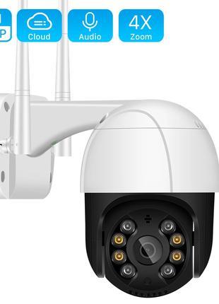 Уличная Беспроводная Wi-Fi Камера Anbiux 2MP Видеонаблюдения