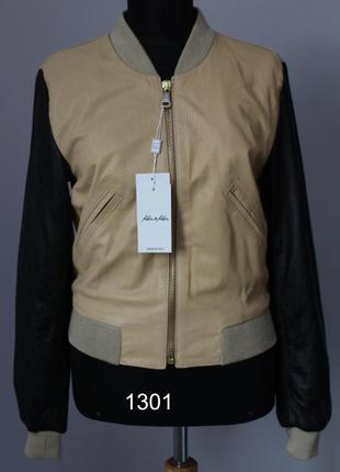 Кожаная куртка-бомбер р.40,42,44,46