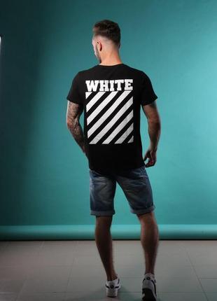 Черная футболка off-white/s, m, l, xl