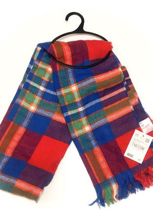 Sale! тёплый широкий шарф, палантин clockhouse