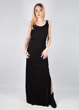 Длинное черное платье jennyfer