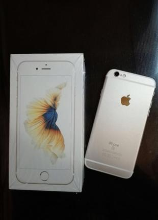 IPhone 6s 64 gb Gold neverlock состояние 4+