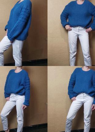 Широкий толстый джемпер свитер пуловер