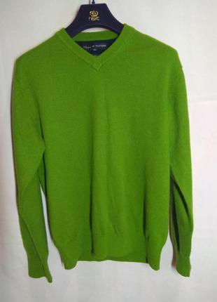 Кашемировый свитер tommy hilfiger джемпер полувер оригинал