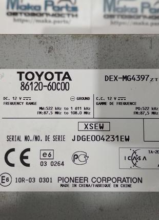 86120-60с00Магнитола Toyota Land Cruiser2010-2013