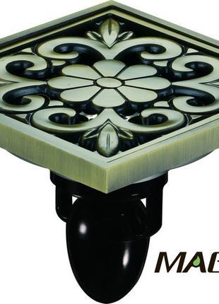 Трап сливной для душа MAGdrain, полированная бронза, 10х10, сухой