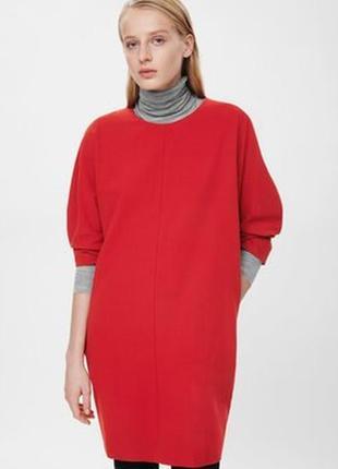 Платье терракотового цвета cos