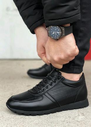 Мужские кроссовки на меху