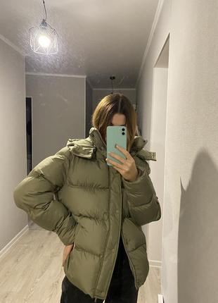 Пуховик куртка зимняя с капюшоном унисекс