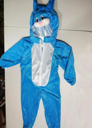 Новогодний карнавальный костюм зайчика на  5-6 лет в новом сос...