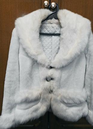Весільна біла шуба, 46 розмір