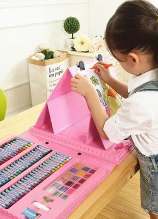 Детский художественный набор для творчества с мольбертом 208 п...