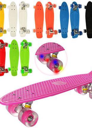 Супер цена Пенни борд СВЕТящиеся led колеса Скейт Penny board ...