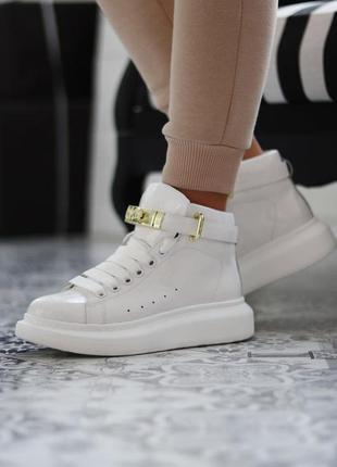 Alexander mcqueen sneakers high white