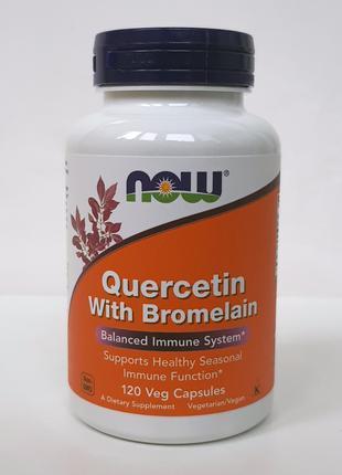 Кверцетин с бромелаином Now Foods, 120 капсул