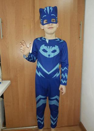 Карнавальный костюм супергероя кэтбой / catboy на 5-6 лет