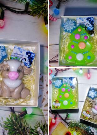 Мыло ручной работы, подарок на Новый год, подарки детям