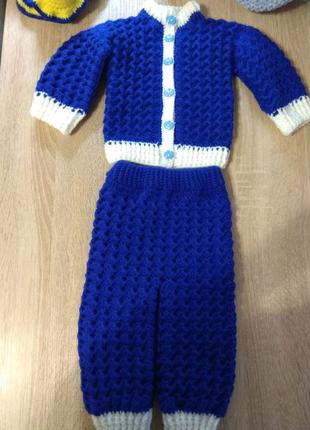 Детский тёплый костюм 1-6мес