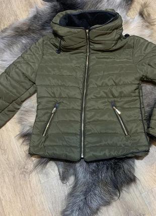 Куртка дутик цвет хаки