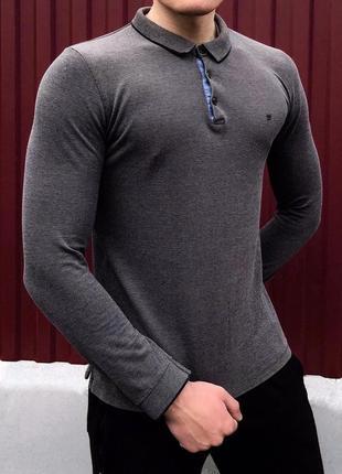 Мужское поло с длинным рукавом