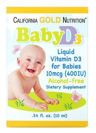 Жидкий витамин Д3 California Gold Nutrition Baby D3 для детей