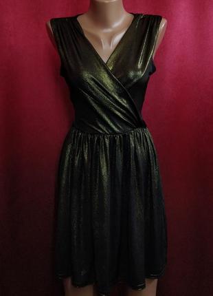 Платье вечернее золотистое