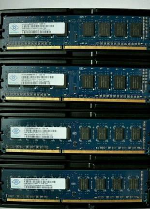 Оперативная память DDR3 4GB 1333/1600 PC3-10600/12800 (Intel/A...