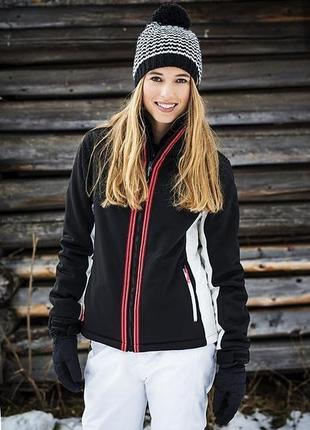 Женская чорная лыжная сноубордическая горнолыжная термо куртка...