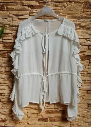 Нарядная блуза/рубашка с оборками gaialuna (италия) на 10-11 л...
