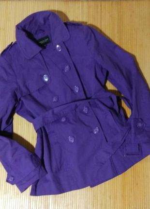 Фиолетовый плащ debenhams, размер 46-48