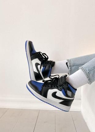Jordan 1 retro high black blue white