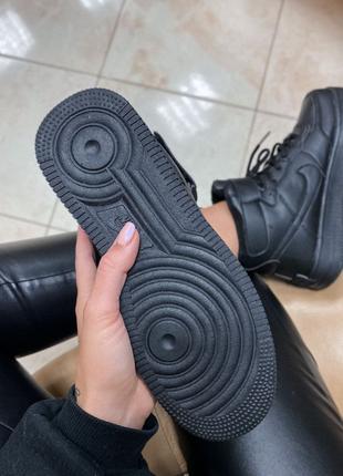 Кроссовки Nike Air Force High Black Fur