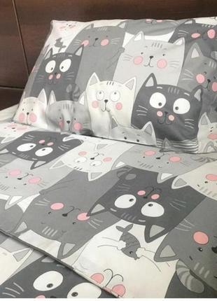 Постельное белье котики в наличии