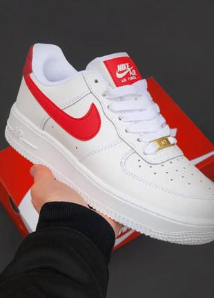 Кросівки nike air force 1 white/red