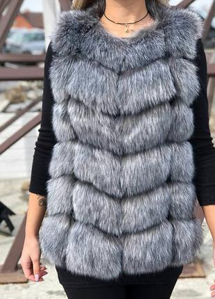 Меховая жилетка   жилетка из эко меха Наложка без предоплаты