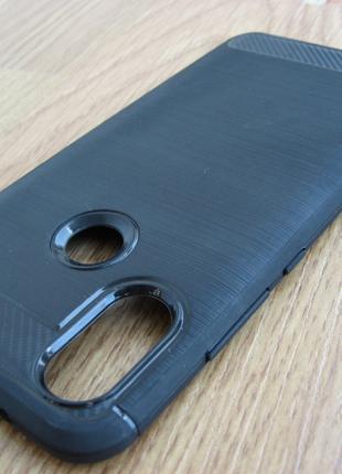 Чехол Xiaomi Mi A2 Бампер под карбон черный