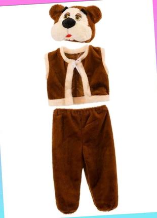 Костюм медведя 4-7 лет, детский карнавальный костюм медведя