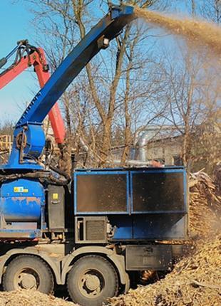 Предприятие производит и реализует щепу и переработку древесины