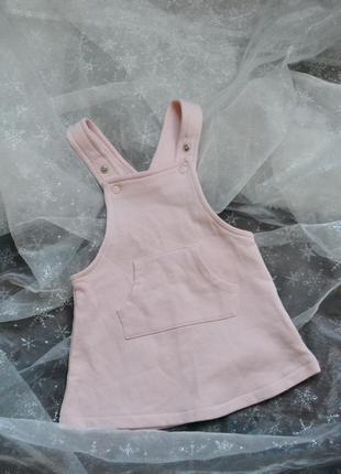 Очень милый утепленный сарафанчик платье для малышки 2-4 месяца
