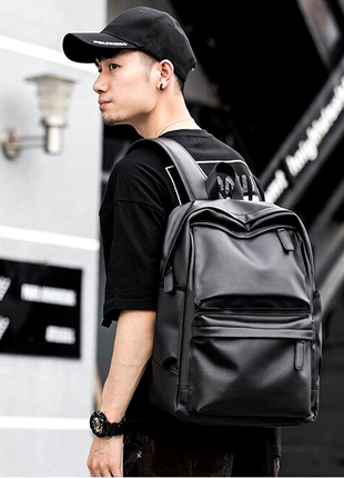 Крутой рюкзак с usb j3. кожаная сумка. мужской рюкзак кожа. по...
