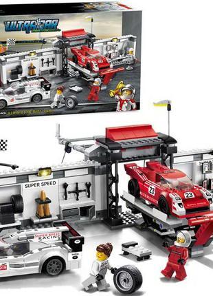 Конструктор DECOOL 78117 Станция обслуживания гоночных автомоб...